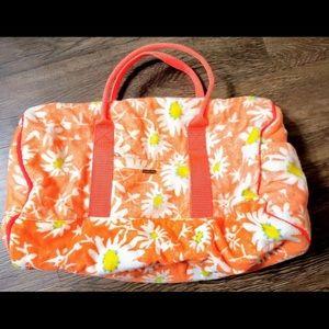 Free People Orange Daisies Duffle Overnight Bag